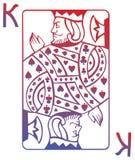 Póquer K Ilustração Stock