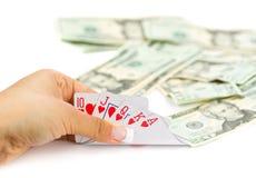 Póquer real Imagens de Stock