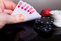 Póquer real Imagens de Stock Royalty Free