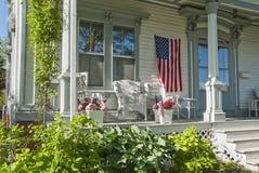 Pórtico americana de la casa Imagenes de archivo