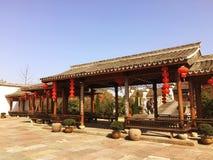 Pórtico antiguo del chino del estilo imagenes de archivo