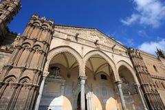 Pórtico da catedral de Palermo Imagem de Stock