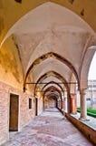 Pórtico de la abadía de Polirone - San Benedetto Po, Italia Foto de archivo libre de regalías