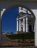 Pórtico de una iglesia ortodoxa Fotografía de archivo libre de regalías