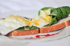 Pórtico del huevo para el desayuno fotografía de archivo libre de regalías