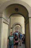 Pórtico perto de Ponte Vecchio em Florença Imagem de Stock