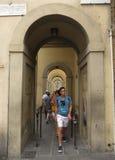 Pórtico perto de Ponte Vecchio em Florença Fotografia de Stock