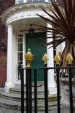 Pórtico y puerta georgianos Fotos de archivo