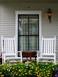 Pórtico y sillas Foto de archivo libre de regalías