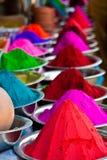 Pós coloridos indianos Fotografia de Stock Royalty Free
