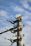 Pôle électrique Photo stock