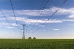 Pôle électrique Photos stock