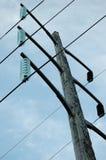 Pôle électrique hydraulique Photos stock