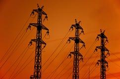 Pôle de l'électricité images stock