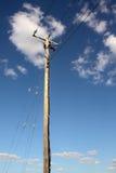 Pôle de pouvoir avec le ciel Photo libre de droits