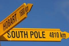 Pôle du sud (4810Km) Images libres de droits