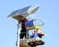Pôle photovoltaïque de kit Photographie stock