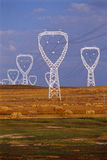 pôles de l'électricité photo libre de droits