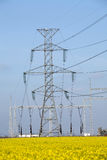 pôles de l'électricité Photographie stock libre de droits