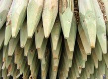 Pôles en bois Photographie stock libre de droits