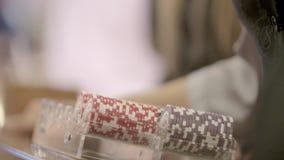 Pôquer Chips Close Up video estoque