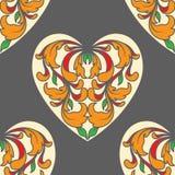 Pôquer do coração como o teste padrão do cartão Foto de Stock Royalty Free