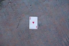 Pôquer 1on a terra imagens de stock royalty free