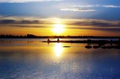 Pôr-do-sol do outono Fotografia de Stock Royalty Free