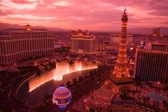 Pôr-do-sol em Las Vegas imagem de stock