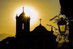 Pôr do sol em Paraty Brasil Foto de Stock
