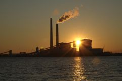 Pôr-do-sol na potência de Deely Sommer Foto de Stock Royalty Free