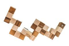 Põe a ideia nos blocos de madeira Imagens de Stock Royalty Free