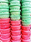 Põe o verde com o vermelho Imagem de Stock Royalty Free