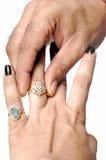 Põr o anel de noivado foto de stock royalty free