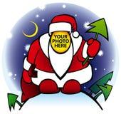 Põr sua a face preferivelmente Santa ilustração royalty free