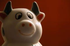 Põr um sorriso sobre sua face foto de stock royalty free