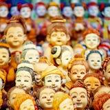 Pöbel von Puppengesichtern Stockfotografie
