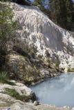 Pöl av Bagni San Filippo Hot Springs i Italien Arkivfoton