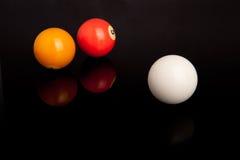 Pöl- eller Billiardbollar Arkivbild