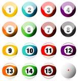 Pöl- eller Billiardbollar Arkivbilder