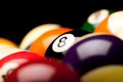 pöl för 8 boll Royaltyfri Foto