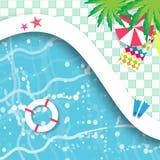 pöl som simmar övre sikt Vilotid vektor illustrationer