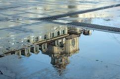 Pölar efter regn Royaltyfri Fotografi