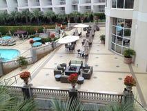 Pölsida av ett hotell Arkivfoton