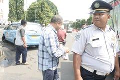 Público do aumento da tarifa do veículo da recusa da ação do protesto dos motoristas Imagens de Stock