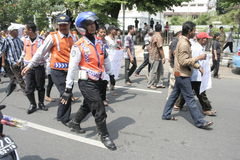 Público do aumento da tarifa do veículo da recusa da ação do protesto dos motoristas Imagens de Stock Royalty Free