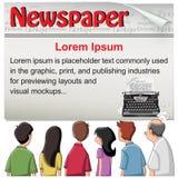 Público - molde da notícia do jornal ilustração royalty free