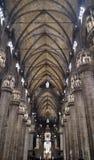 Púlpito de la catedral de Milano del Duomo fotos de archivo libres de regalías