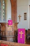 Púlpito de la iglesia Foto de archivo libre de regalías