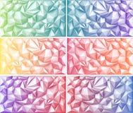 Púrpura amarillo-naranja verde multicolora Violet Backgrounds del rosa del rojo azul del triángulo geométrico poligonal abstracto Foto de archivo libre de regalías